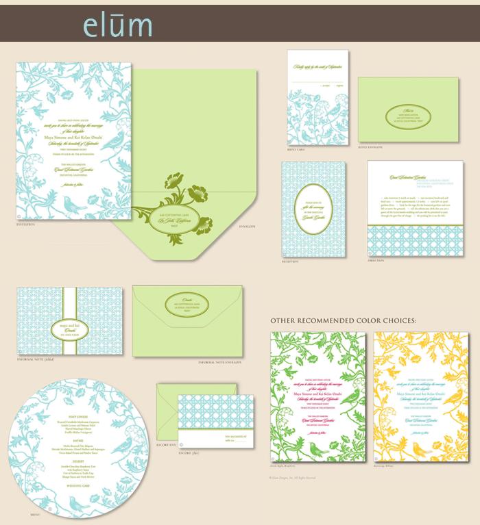 elum letterpress invites