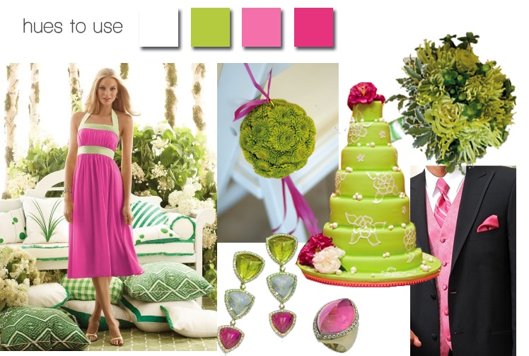 passion for pink and green