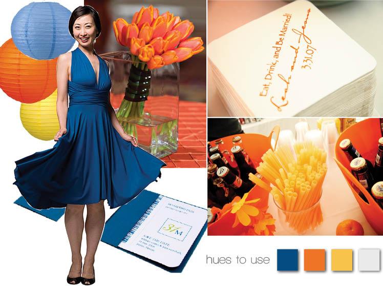 blue sapphire and fiery orange