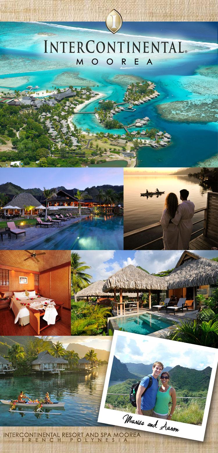 honeymoon hot spot–intercontinental moorea resort and spa