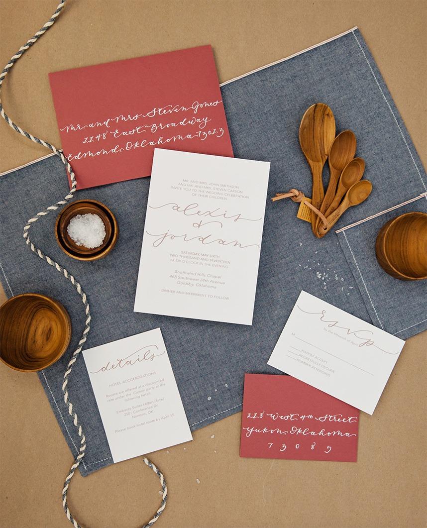 paper and presents Oklahoma wedding photographer Tara Lokey Photography