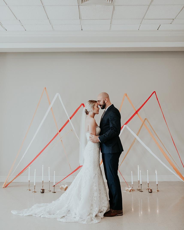 Modern Peaches and Cream InspirationOklahoma Wedding Planner Malyn Made Weddings Oklahoma Wedding Photographer Jordan Taylor Photography Aiming Arrows 20