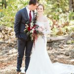 Joanie Simmermaker Weds Brandon Wells Navy + Crimson Wedding at Dream Point Ranch from Bethany Faber Events