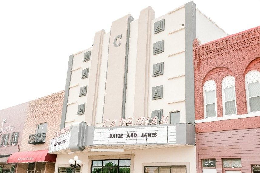 grand canadian theater oklahoma wedding venue