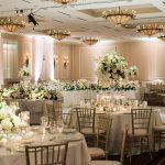 class ballroom wedding white