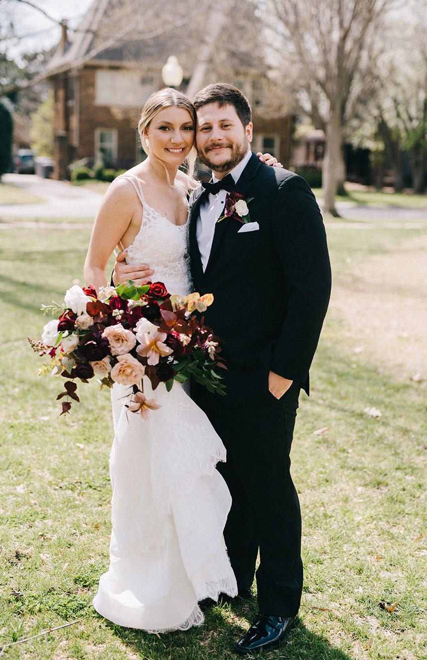 classic springtime bride and grom