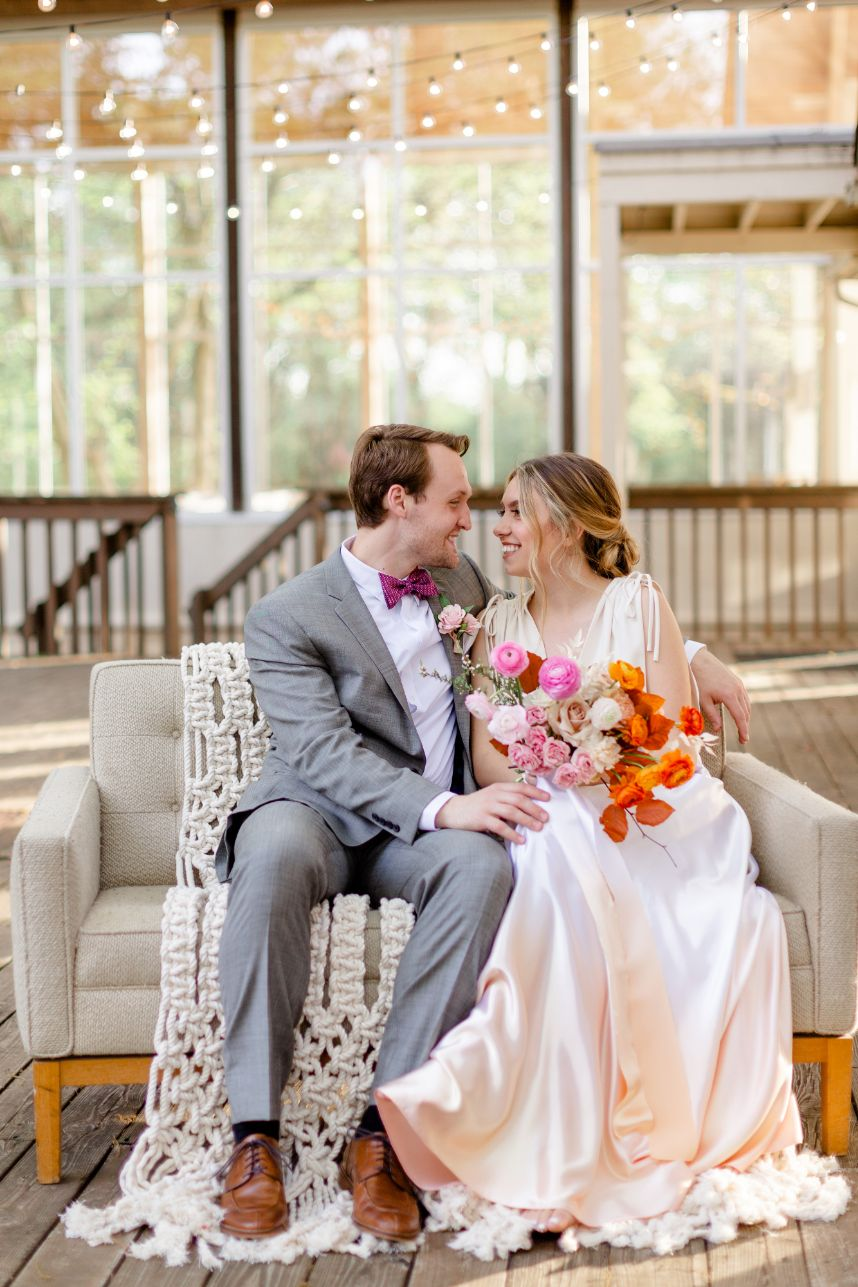Citrusy Sweet Summer Wedding Inspiration Oklahoma Wedding Venue Glass Chapel Oklahoma Wedding Rentals Party Pro Rents_145