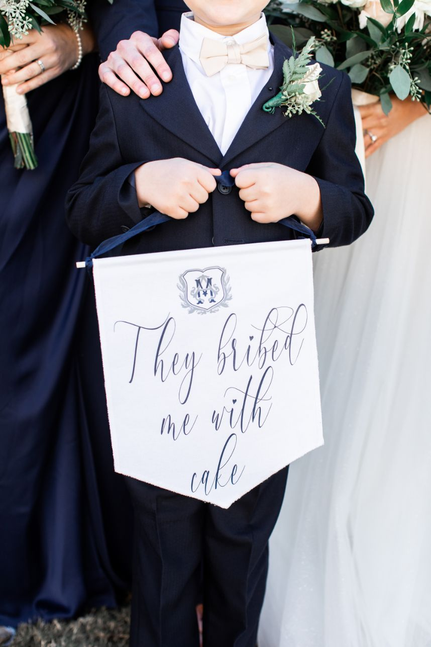 Classic and timeless ring bearer