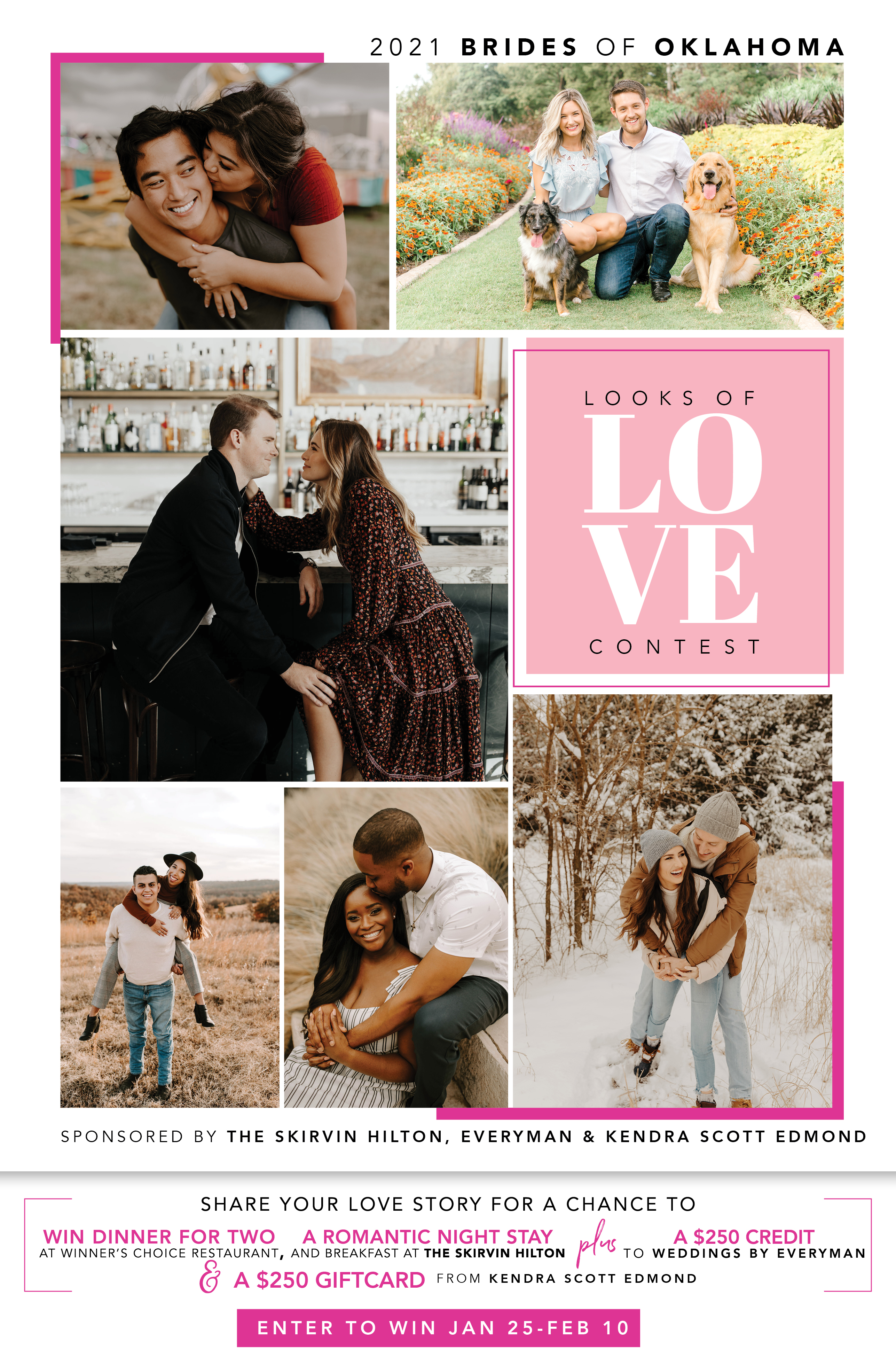 brides of Oklahoma 2021 looks of love contest