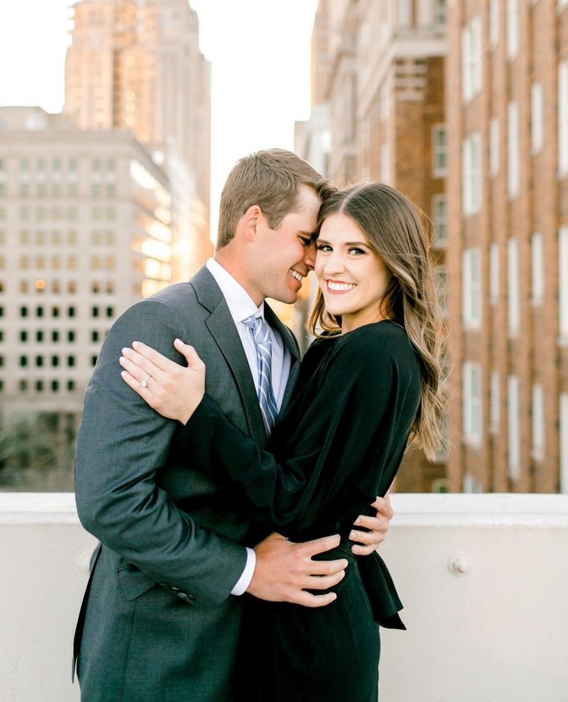 A chic downtown engagement session to capture these cutie high school sweethearts who said yes to forever! We are so