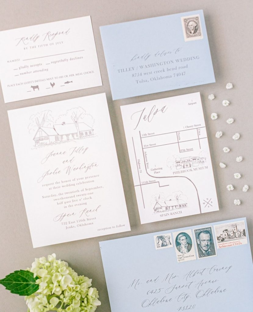 Quite possibly the most important pieces of mail you'll ever send, your wedding invitations communicate so much more than the