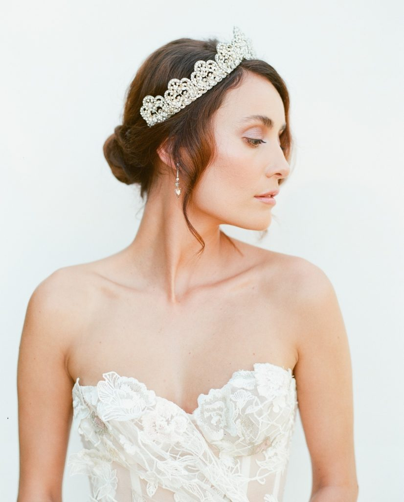 "From Ali with profilebeautynook: ""For the feteokc shoot, I was really inspired by the regal nature of the bridal crown."