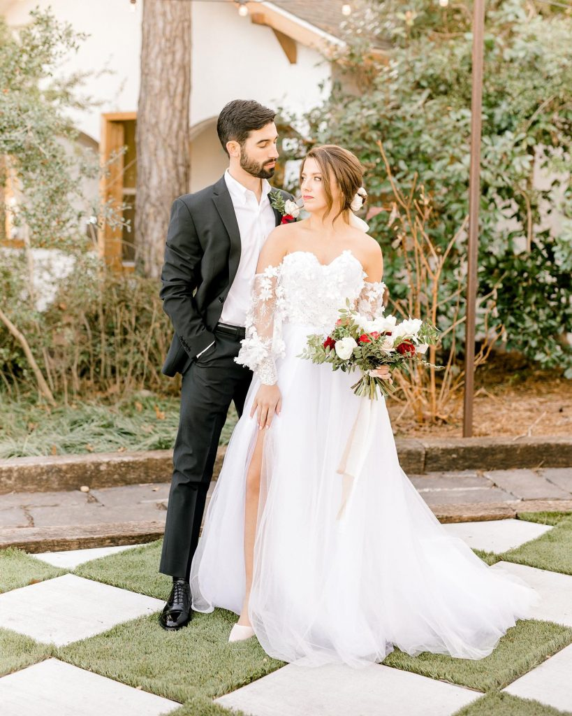 "From the planner, harpermaeevents: ""Inspired by the global pandemic, elopements and micro-weddings became a hot topic in 2020. This romantic,"