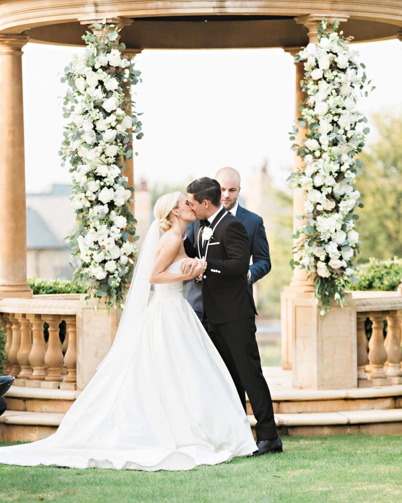 """""""(My favorite memory was) our grand entrance as Mr. and Mrs. Clark in the reception room! I'm not sure if"""