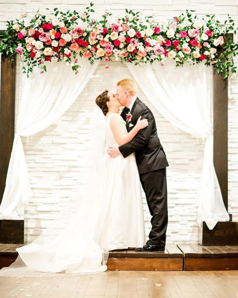 """One of our favorite parts of our wedding day was Ryan's Aunt Sally getting to officiate our ceremony."" - Samantha"