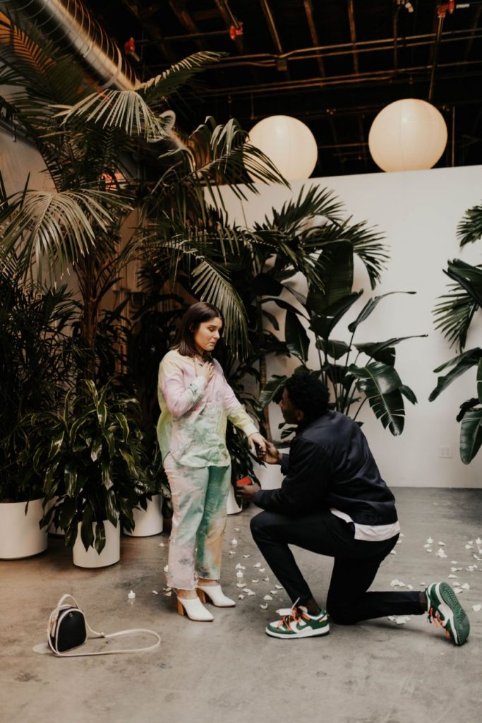 Tulsa proposal The Canopy engagement party