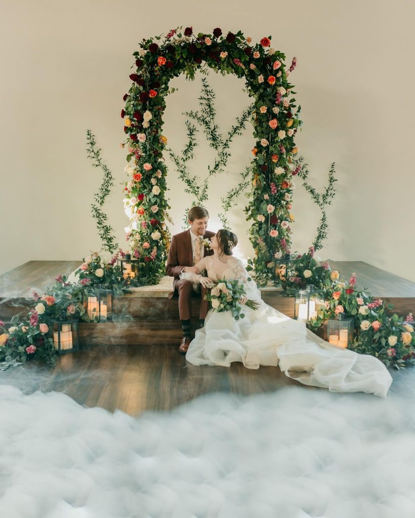 With a touch of modern, a dash of vintage, and a whole lot of flowers, this timeless wedding inspiration at