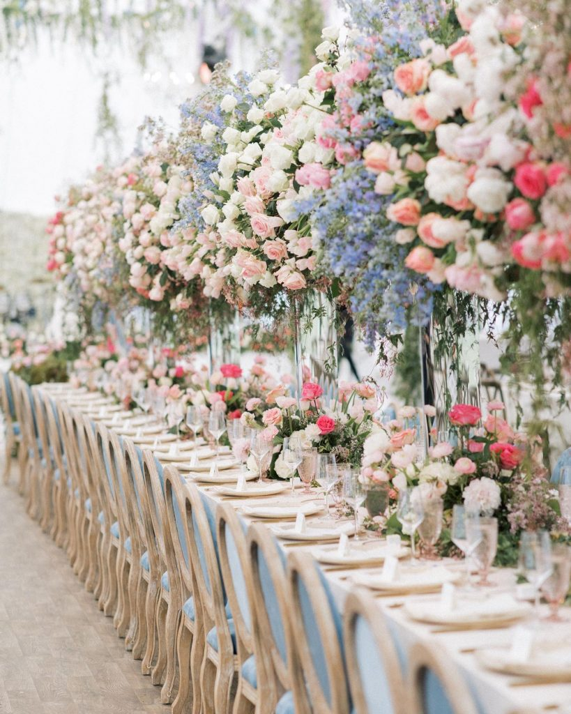 OH. MY. DETAILS! Color us obsessed with all the dreamy details from alexmariedrum ranch wedding. Between the periwinkle and punches