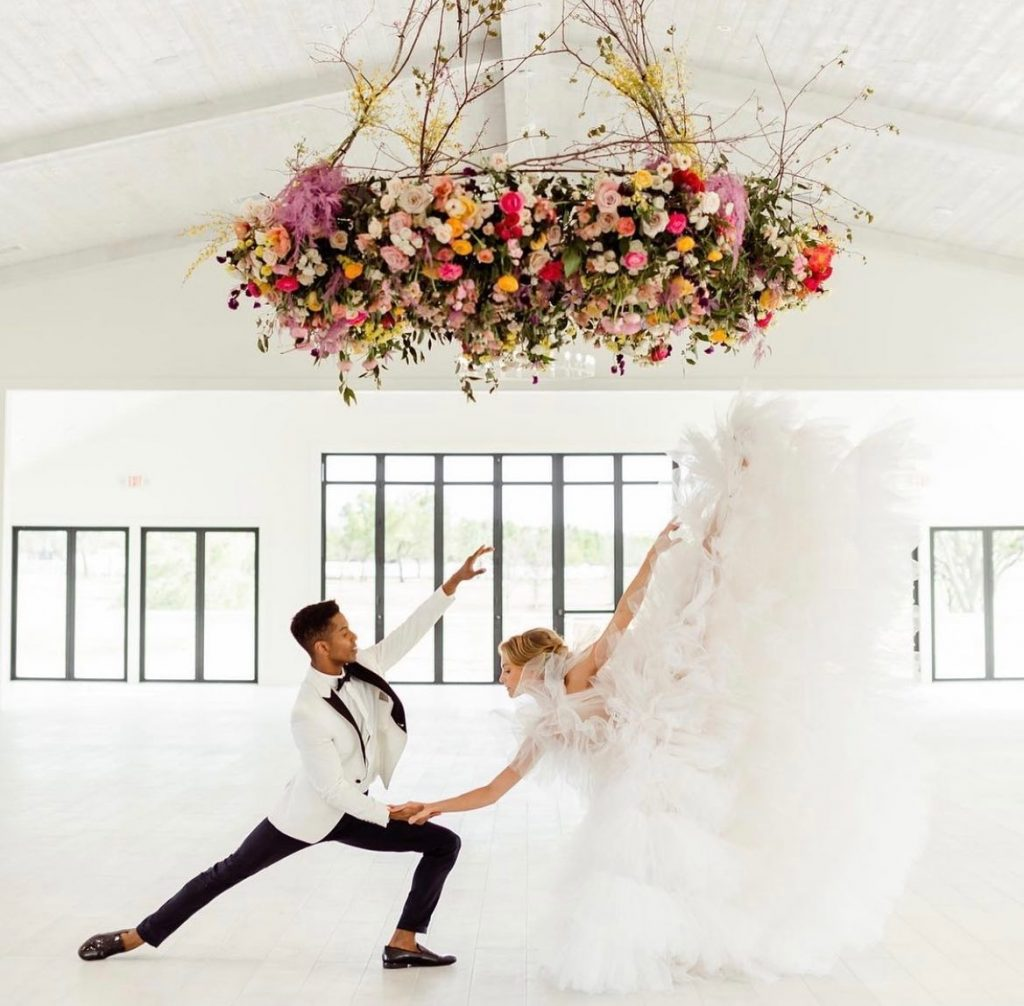 On Fridays we...DANCE! We love how aspenranchok was transformed into a stage for these two! While your reception moves might