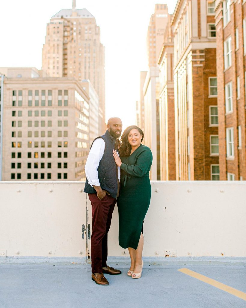 What's more romantic than a rooftop engagement session? ? We'll wait... Meanwhile, obsessing over the range Jennifer + Orlando show