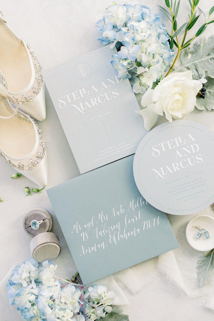 something blue wedding inspiration