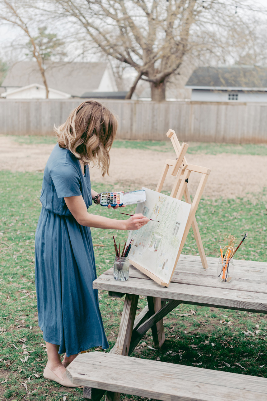 live painter at your wedding
