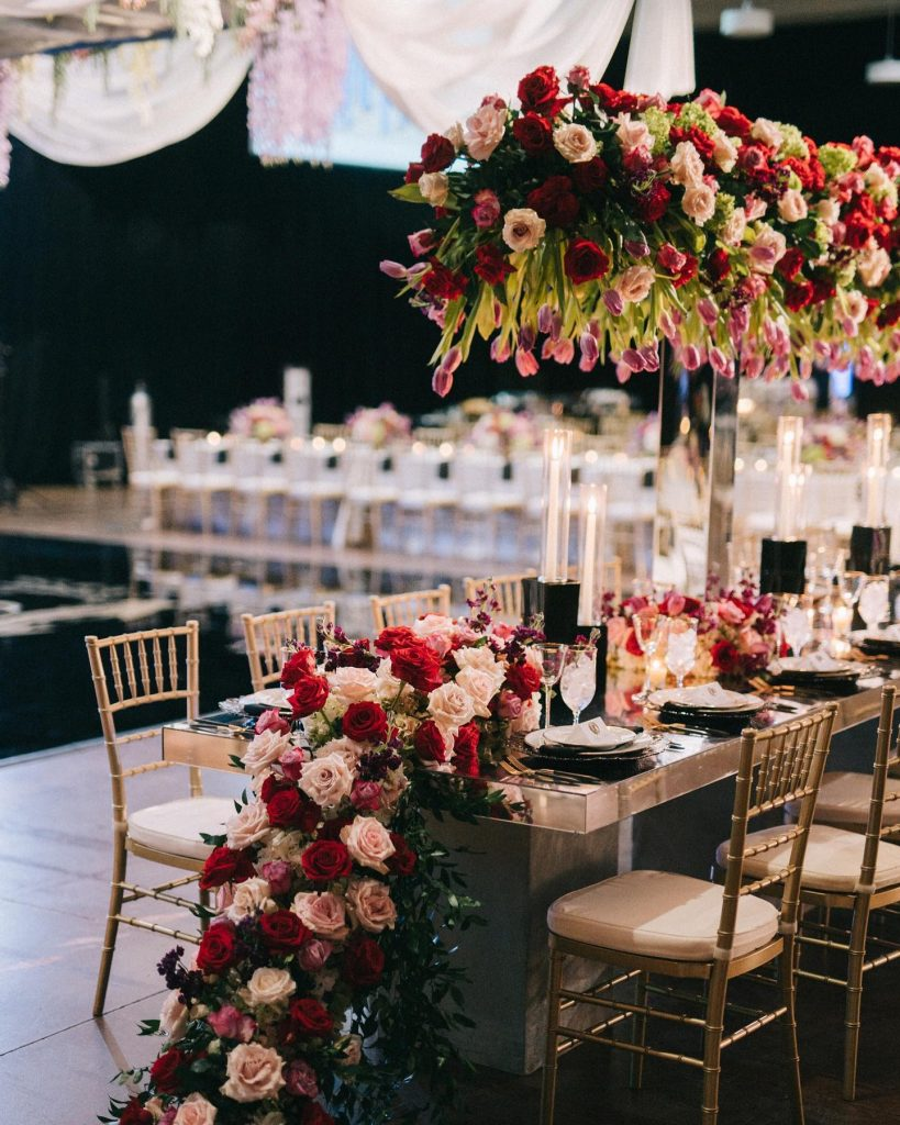 Victoria and Jarred's luxe winter wedding was nothing short of romantic. Do you see all of those roses from thefleuriste?!
