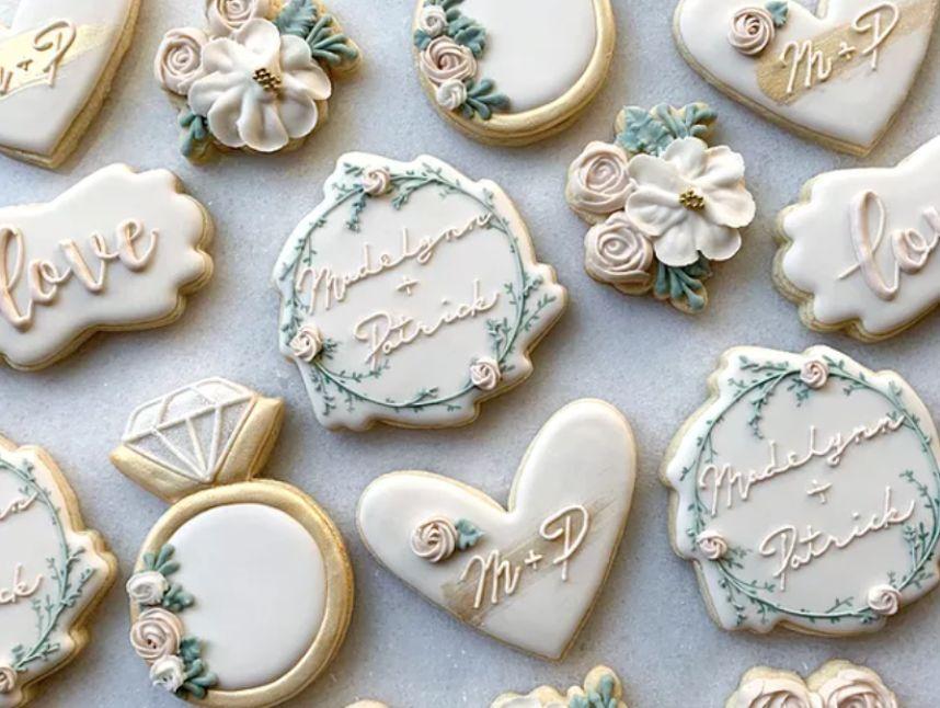 flour cookie co wedding cookies
