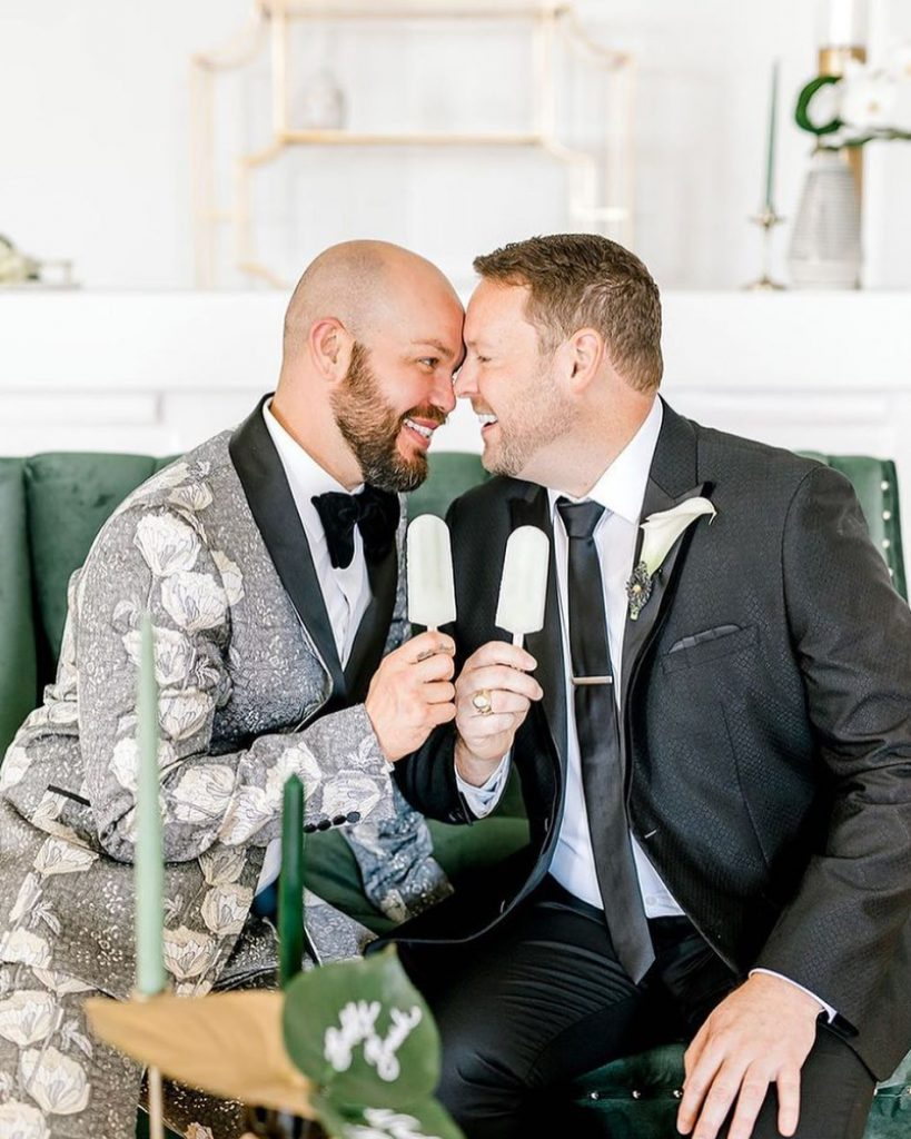 Bobby + Wade sure can work the camera with meg.rose.photography! The dapper suits from thewardrobeokc complete this savvy-chic look, hinting
